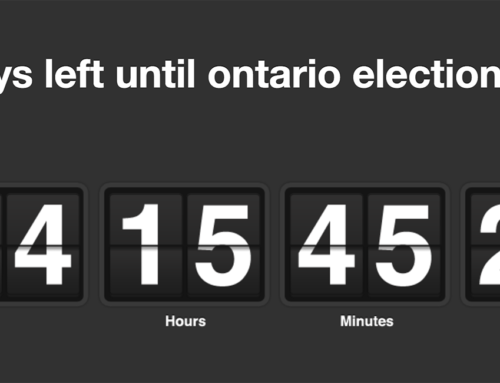 44 Days to #onpoli Election – Candidates Meetings weeks Sooner. Are you Ready?